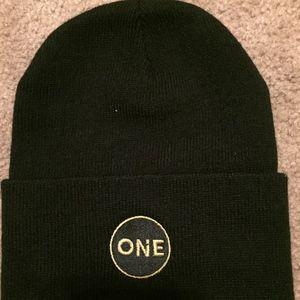 """One"" Beanie Black Brand new"